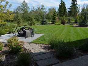 The backyard of the Ball incorporates many elements of xéro-landscape.  PROVIDED BY SALISBURY LANDSCAPING