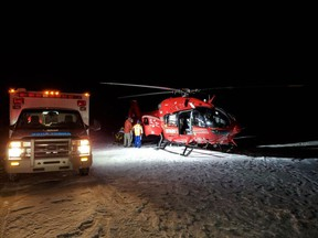 An ice climber was rescued by emergency crews Friday after falling near Abraham Lake.