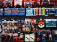 Gaming accessories and Star Wars merchandise are displayed at a GameStop Corp. store in New York. Before 2020 the stock had fallen six straight years as earnings shrunk, and which isn't projected to turn a profit before fiscal 2023.