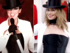 Shania Twain says getting back into her 1999 Man! I Feel Like a Woman corset is 'awesome.'
