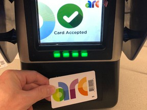 Edmonton Transit Service and its regional partners unveiled the new Arc smart fare card, coming soon to buses across the Edmonton region and the city's LRT system.