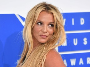 This file photo taken on August 28, 2016 shows singer Britney Spears arrives for the 2016 MTV Video Music Awards at Madison Square Garden in New York.