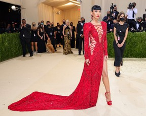 Megan Fox attends The 2021 Met Gala Celebrating In America: A Lexicon Of Fashion at Metropolitan Museum of Art on September 13, 2021 in New York City. (Photo by Theo Wargo/Getty Images)