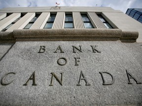 A sign is pictured outside the Bank of Canada building in Ottawa May 23, 2017.