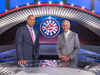 New Hockey Night in Canada hosts David Amber (L) and Ron MacLean (R)