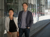Hyewon Kong (left) and Martin Grosskopf (right), portfolio managers at AGF Investments, poses for a portrait in Toronto, Ont.