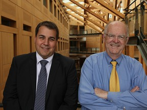 Veritas CEO, Dr. Franciosi, with Dr. Walker, President of Cannevert Therapeutics Inc.