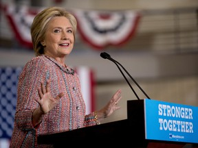 Democratic presidential candidate Hillary Clinton speaks at a rally at University of North Carolina, in Greensboro, N.C.