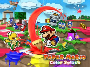 Like other Paper Mario games, Paper Mario Color Splash is set in a beautiful origami world that informs many of the game's mechanics and scenarios.