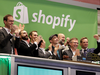 The Shopify team ring the New York Stock Exchange opening bell, marking the Canadian company's IPO on May 21, 2015.