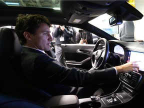 Prime Minister Justin Trudeau visits the Blackberry QNX facility in Ottawa on Monday, Dec 19, 2016.
