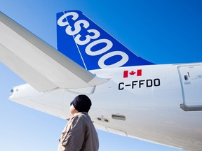 Bombardier's CSeries aircraft.
