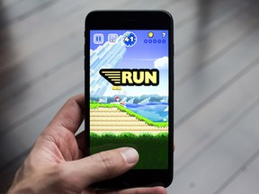"""World 1-1, """"Up and Over,"""" in the Super Mario Run for Apple's iOS platform"""