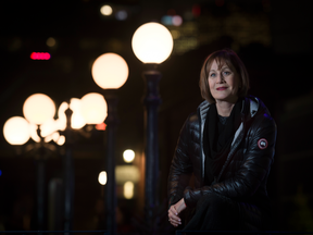 Denise Donlon, a multi-faceted broadcaster, record label head and social activist, poses for a portrait in Toronto's distillery district.