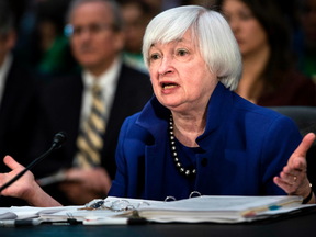 """U.S. Federal Reserve Chair Janet Yellen said  another interest rate increase could be """"appropriate"""" later this month if employment and inflation remain in line with expectations."""