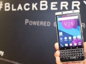 BlackBerry Ltd said on Wednesday Qualcomm Inc was asked to pay the Canadian company about $814.9 million in an interim arbitration decision over royalty overpayments.