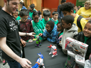 Students try out new technology at the annual Go North event at the University of Toronto.