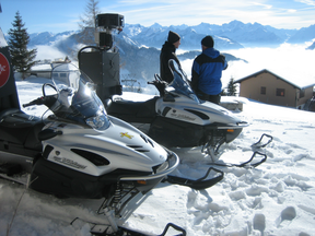 Street View cameras are mounted on the back of snowmobiles to capture images of Whistler, B.C.