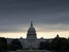 """The Capitol in Washington is seen early Thursday, July 27, 2017, as the Republican majority in Congress remains stymied by their inability to fulfill their political promise to repeal and replace """"Obamacare"""" because of opposition and wavering within the GOP ranks. (AP Photo/J. Scott Applewhite)"""