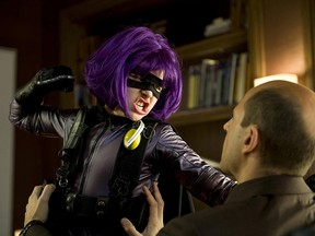 Chloe Grace Moretz as a pre-teen super-hero murderer in Kick Ass. Although Kick Ass is perhaps Millarworld's best known property, it wasn't included in the deal with Netflix.