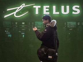Telus Corp added 121,000 wireless postpaid customers, 21,000 high-speed Internet subscribers and 14,000 Telus TV customers.