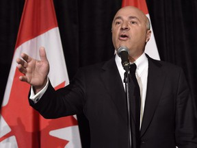 Celebrity businessman and former Tory leadership hopeful Kevin O'Leary has been ordered to pay legal fees to a philanthropic organization that is suing him. Kevin O'Leary addresses a news conference in Toronto, Wednesday, April 26, 2017.