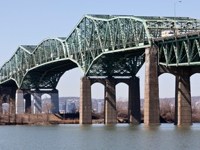The old Champlain Bridge is less than 50 years old but has deteriorated quicker than expected, forcing authorities to close lanes and restrict the flow of traffic.