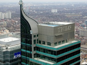 A view of the penthouse at the top of the former Trump Tower in Toronto.