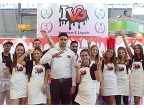 IVG Premium E-Liquids Team at the World's Biggest Vape Exhibition