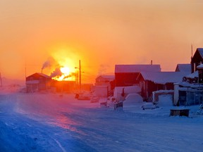 The sun sets in Kugaaruk, Nunavut. The territory is Canada's lowest-taxed jurisdiction.