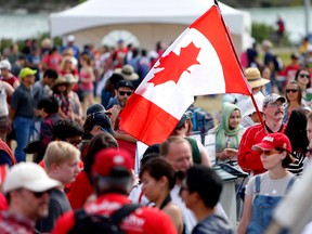 Statistics Canada released preliminary estimates Thursday that showed the country's population hitting 37.1 million on July 1, up 518,588 from a year earlier.
