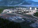 Rendering of the North West side of the LNG Canada.