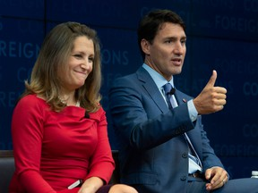Prime Minister Justin Trudeau and Foreign Affairs Minister Chrystia Freeland. In the USMCA, Trudeau and Freeland accepted minor blows to keep the basic infrastructure of Canada's trading arrangement with the U.S. in place.