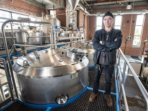 Tom Paterson in his Junction Craft Brewing facility in Toronto.