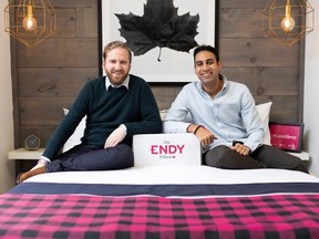 Endy CEO Mike Gettis, left, and chairman Rajen Ruparell.