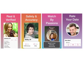 Members are verified by staff at Pair through their in-app selfie. Safety and profile accuracy score appears on member profiles. Rate your date promotes positive behaviour.