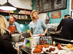 A cafe in Stockhlom that is completely cash-free. Few places are tilting toward a cashless future as quickly as Sweden, which has become hooked on the convenience of paying by app and plastic.
