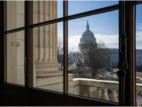 The Capitol Dome is seen from the Russell Senate Office Building in Washington, Thursday, Dec. 27, 2018, during a partial government shutdown.  Chances look slim for ending the partial government shutdown any time soon. Lawmakers are away from Washington for the holidays and have been told they will get 24 hours' notice before having to return for a vote.