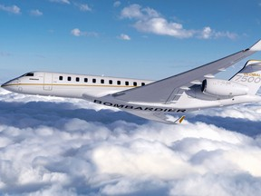 The Global 7500 is Bombardier's flagship business jet.