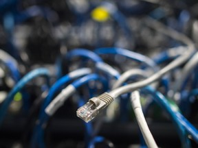 Network cables in Washington, D.C. Cyber security companies enjoyed a strong 2018 on the back of the continued concern over the risk of hacking.