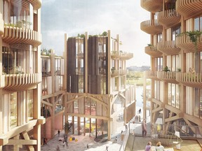 An artist's rendering of Sidewalk Labs' vision for Toronto's Quayside community.