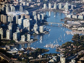 An aerial view of Vancouver. There is a shortage of industrial land in the city.