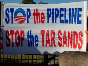 A protest in Washington against Canada's oilsands.