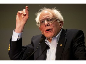 Presidential candidate and U.S. Senator Bernie Sanders (I-VT) speaks to a gathering of the Pennsylvania Association of Staff Nurses and Allied Professionals at Mohegan Sun Pocono in Plains Twp., Pa. on Monday, April 15, 2019.