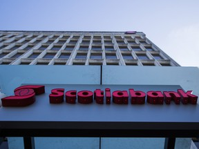 Scotiabank reported second-quarter net income of $2.26 billion, up from $2.18 billion a year earlier.