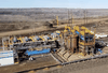 Pit Extraction Process (IPEP) field pilot at Canadian Natural Resources' Horizon Oil Sands site. CNRL's in-pit extraction process eliminates the need for tailing ponds which pose serious environmental risks.