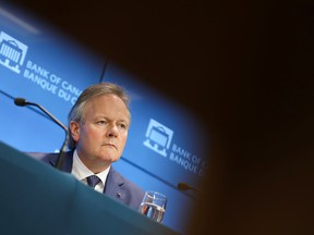 Bank of Canada Governor Stephen Poloz at a news conference in Ottawa.