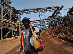 Barrick Gold is weighing the sale of its Tongon gold mine in the Ivory Coast.