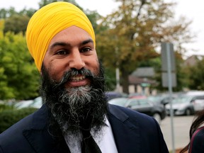 NDP leader Jagmeet Singh on the election trail in London, Ont.