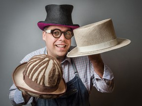 Milliner David Dunkley at his Toronto store.